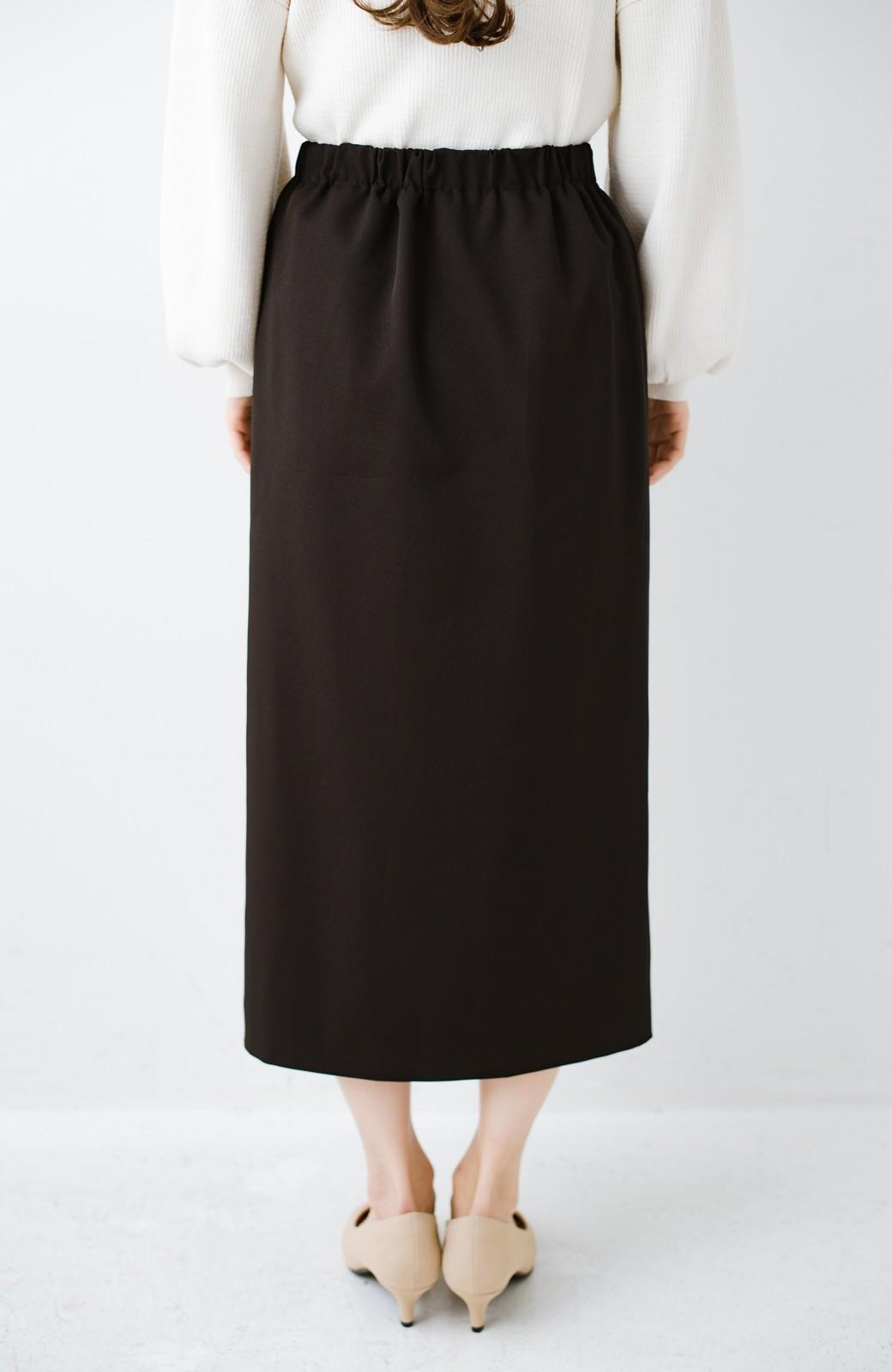 haco! いざというとき困らないための きちんと見えするラップスカート by que made me <ブラック>の商品写真5