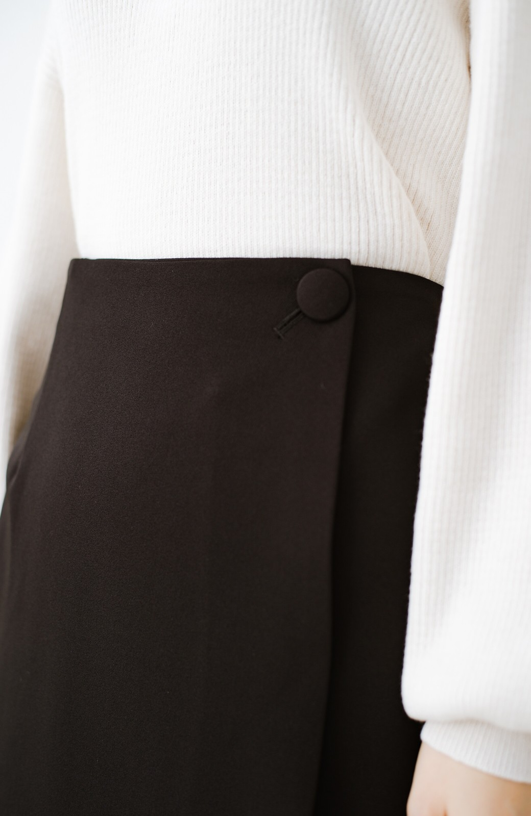 haco! いざというとき困らないための きちんと見えするラップスカート by que made me <ブラック>の商品写真6