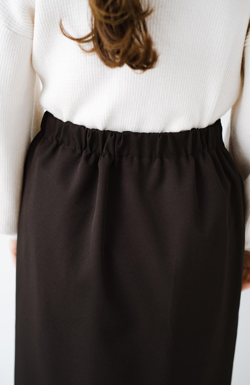 haco! いざというとき困らないための きちんと見えするラップスカート by que made me <ブラック>の商品写真7