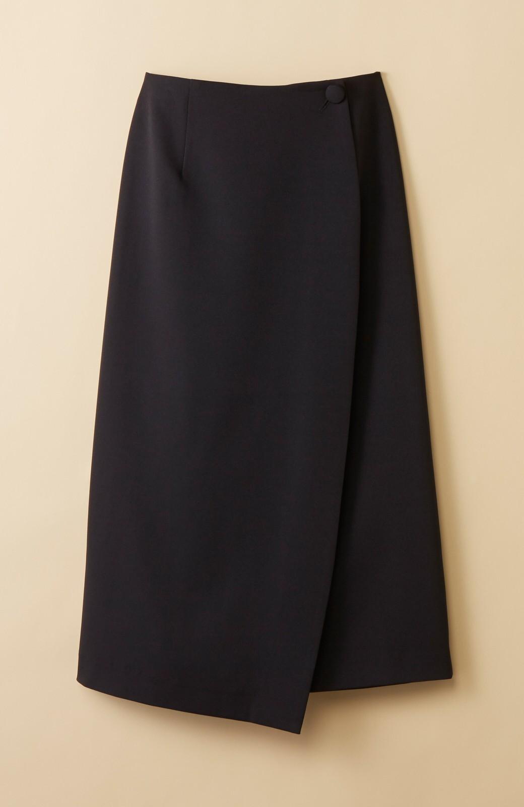 haco! いざというとき困らないための きちんと見えするラップスカート by que made me <ブラック>の商品写真17