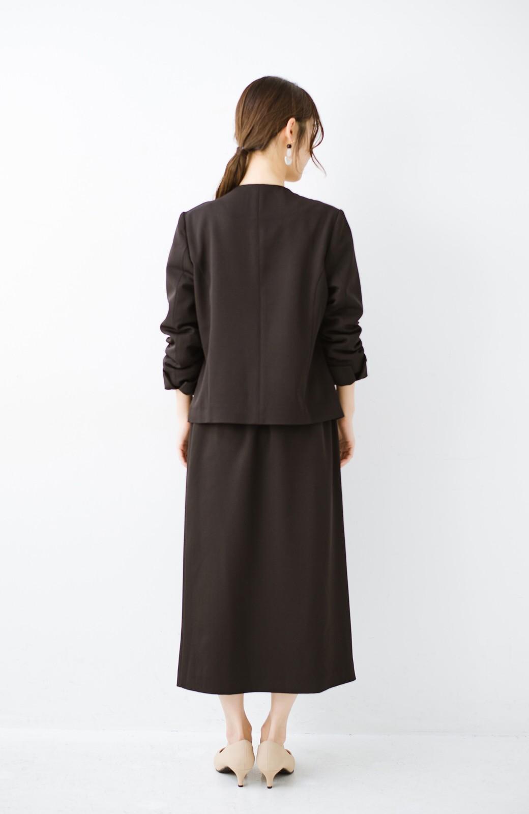 haco! いざというとき困らないための きちんと見えするラップスカート by que made me <ブラック>の商品写真15
