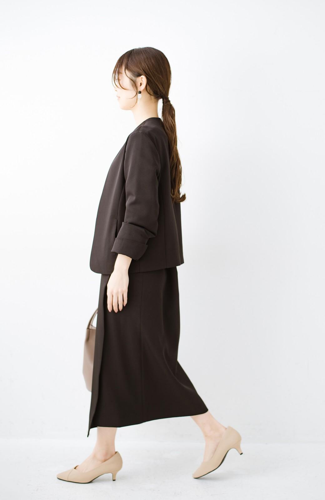haco! いざというとき困らないための きちんと見えするラップスカート by que made me <ブラック>の商品写真14
