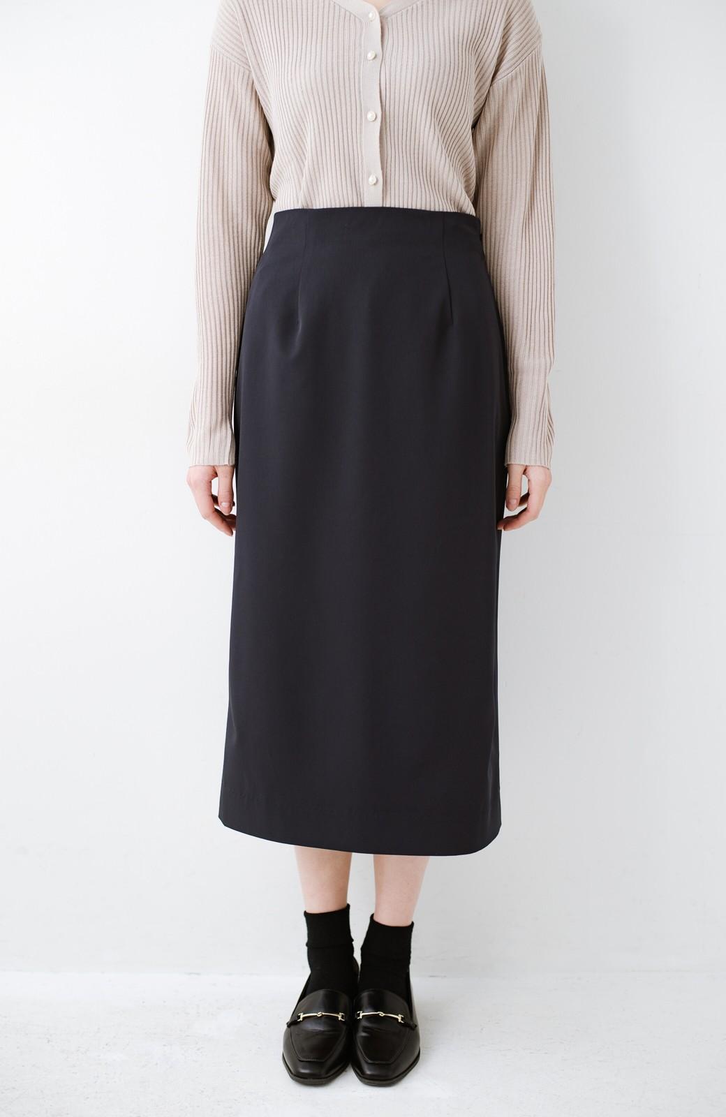 haco! 真面目すぎずにきちんと見えする サスペンダー付きタイトスカート by que made me <ネイビー>の商品写真8