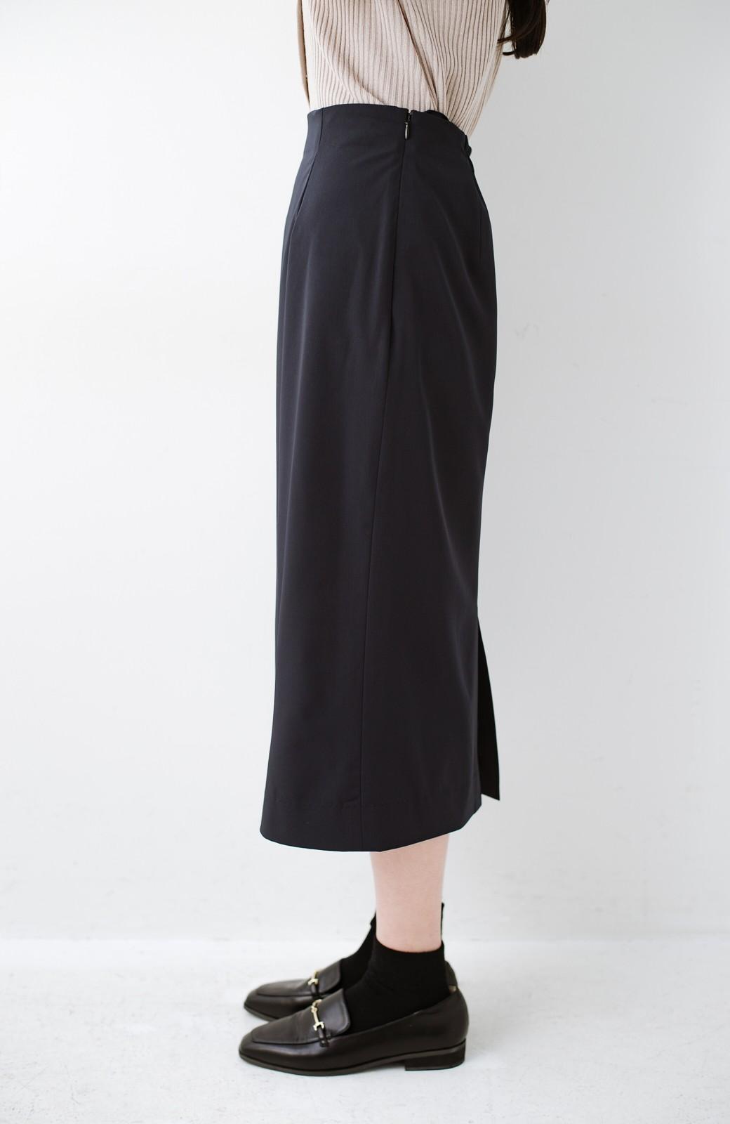 haco! 真面目すぎずにきちんと見えする サスペンダー付きタイトスカート by que made me <ネイビー>の商品写真9