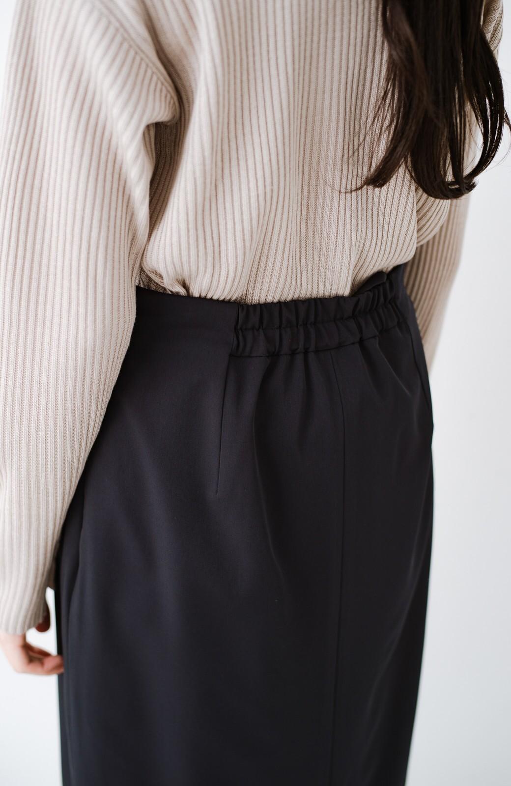 haco! 真面目すぎずにきちんと見えする サスペンダー付きタイトスカート by que made me <ネイビー>の商品写真6