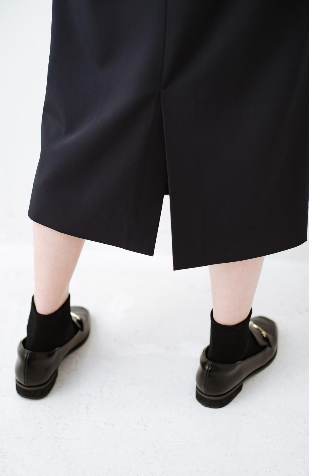 haco! 真面目すぎずにきちんと見えする サスペンダー付きタイトスカート by que made me <ネイビー>の商品写真7