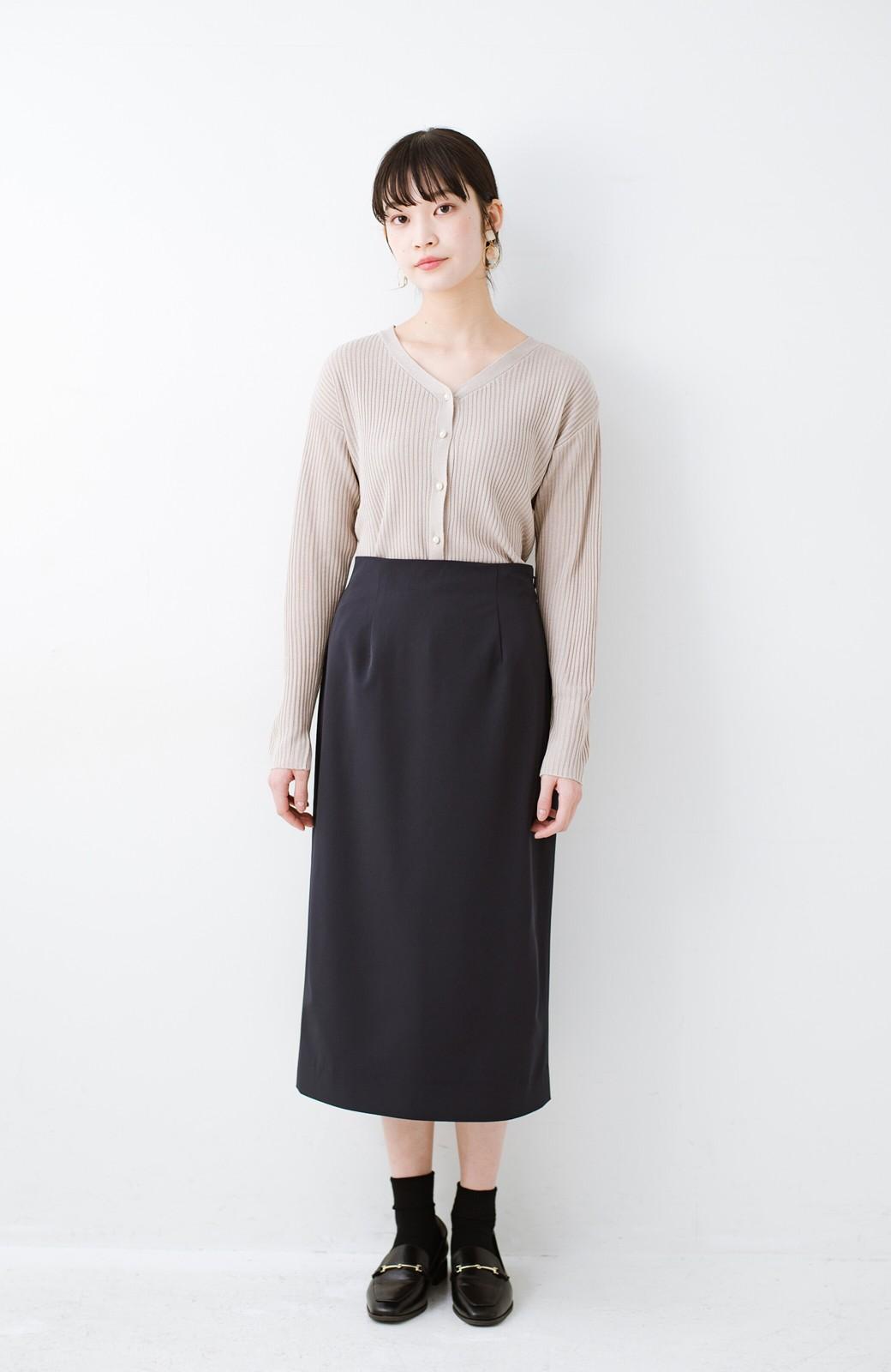 haco! 真面目すぎずにきちんと見えする サスペンダー付きタイトスカート by que made me <ネイビー>の商品写真12