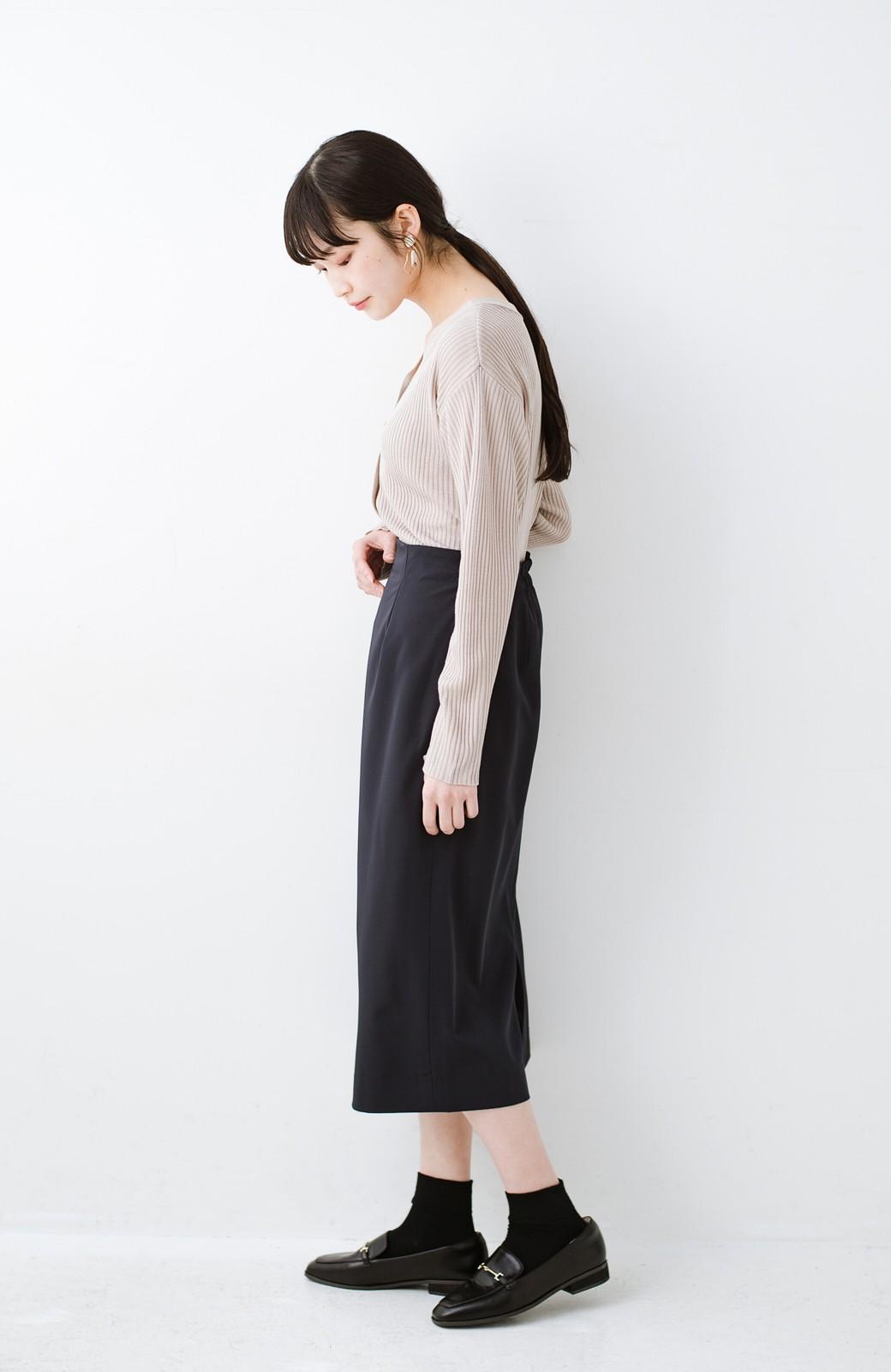 haco! 真面目すぎずにきちんと見えする サスペンダー付きタイトスカート by que made me <ネイビー>の商品写真19