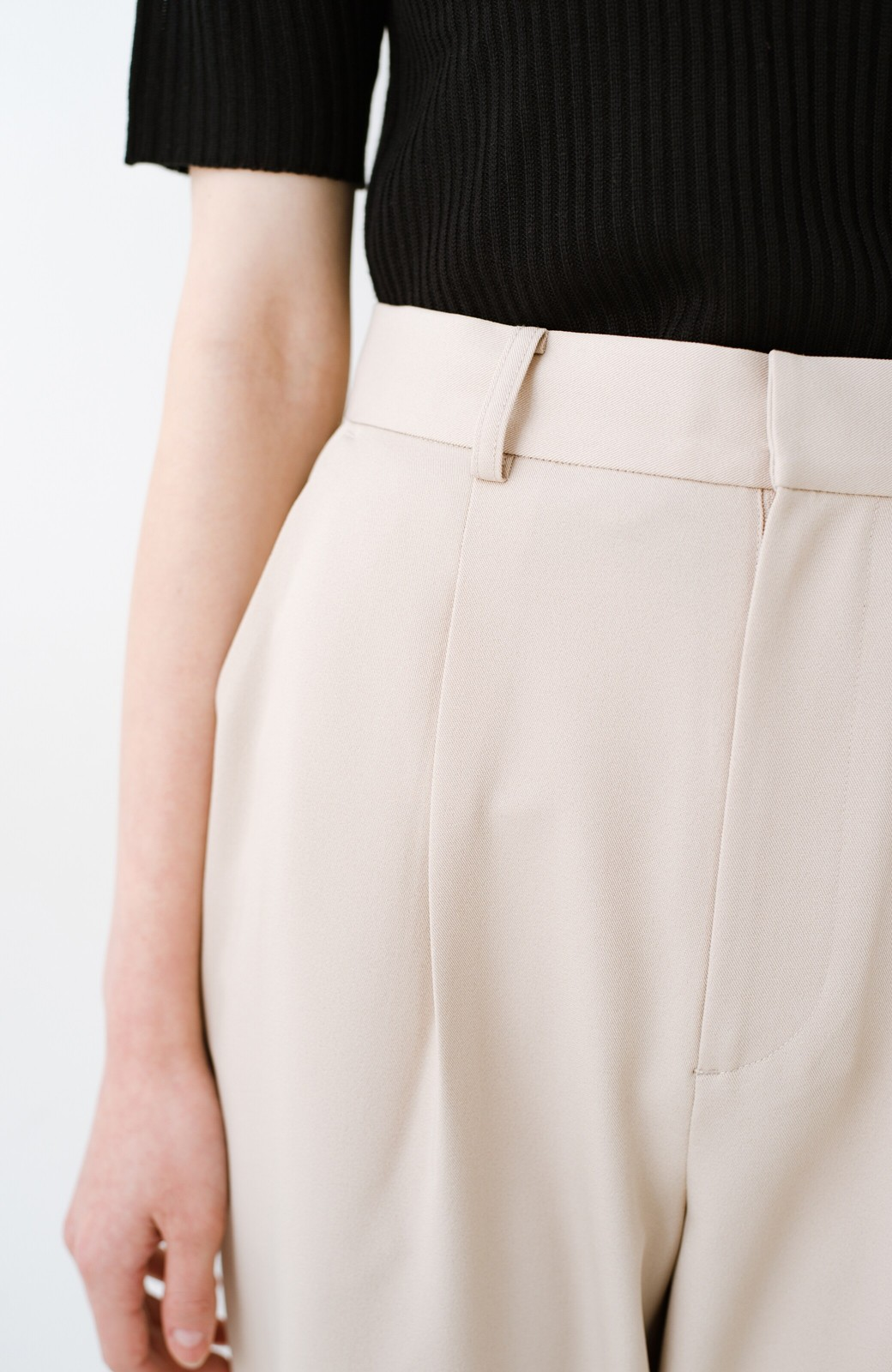 haco! いざというとき困らないための 大人のフォーマルジャケット・パンツ・スカート3点セット by que made me <ベージュ>の商品写真32
