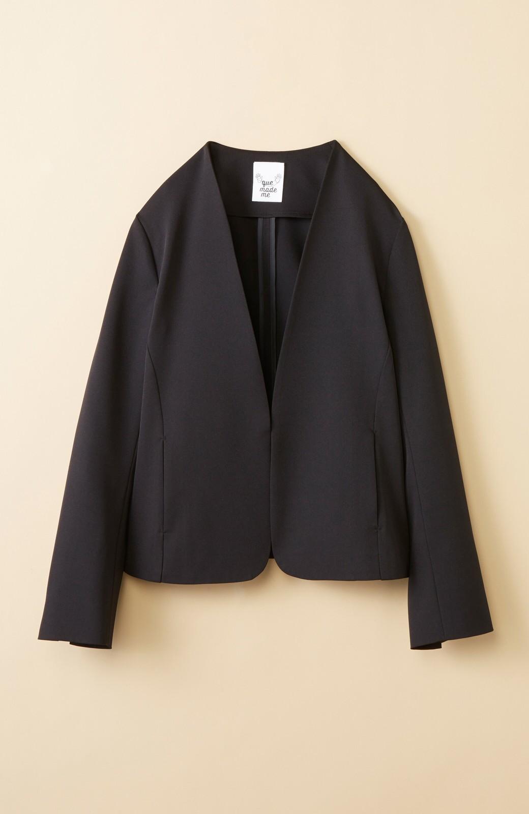 haco! いざというとき困らないための 大人のフォーマルジャケット・スカート2点セット by que made me <ブラック>の商品写真3