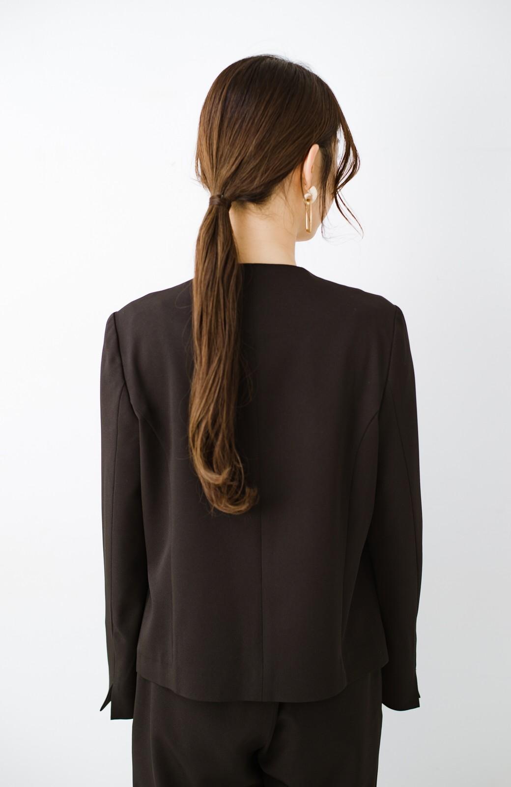 haco! いざというとき困らないための 大人のフォーマルジャケット・スカート2点セット by que made me <ブラック>の商品写真25