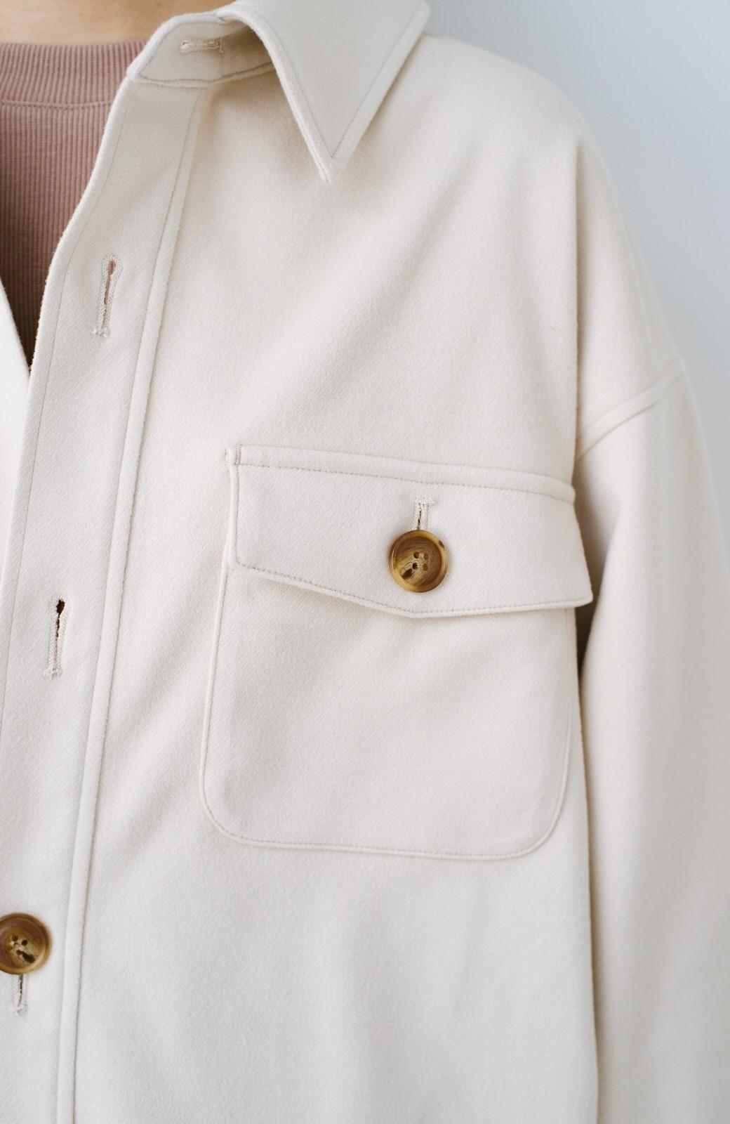 haco! 気軽に羽織って今っぽオシャレに見える ゆるさがかわいいCPOジャケット <アイボリー>の商品写真8