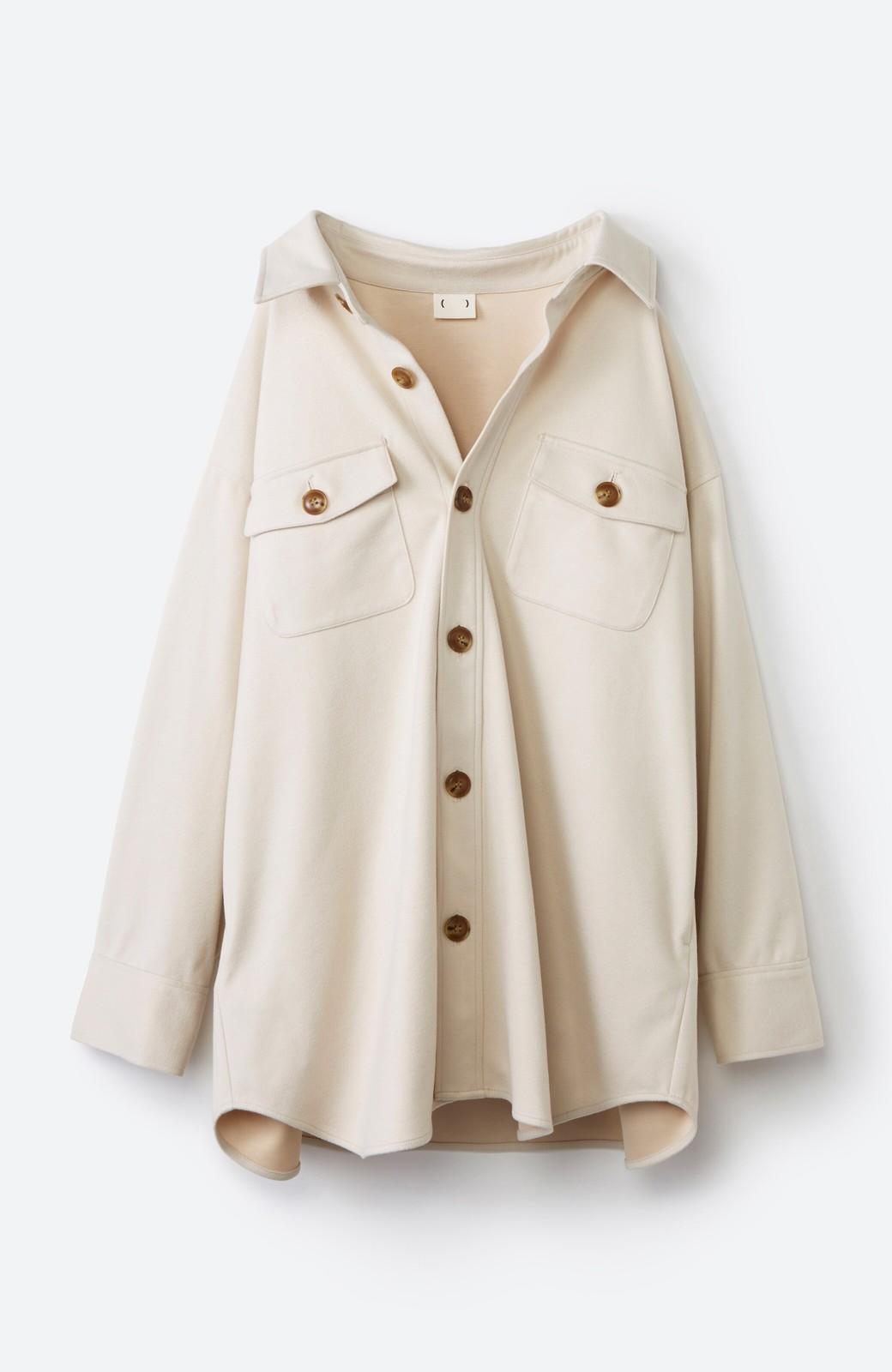 haco! 気軽に羽織って今っぽオシャレに見える ゆるさがかわいいCPOジャケット <アイボリー>の商品写真22