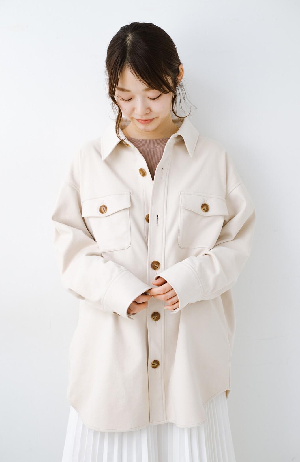 haco! 気軽に羽織って今っぽオシャレに見える ゆるさがかわいいCPOジャケット <アイボリー>の商品写真17