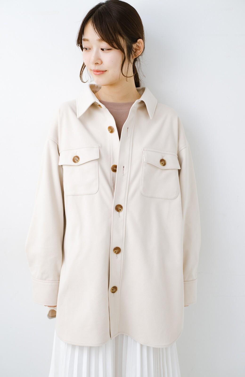 haco! 気軽に羽織って今っぽオシャレに見える ゆるさがかわいいCPOジャケット <アイボリー>の商品写真18