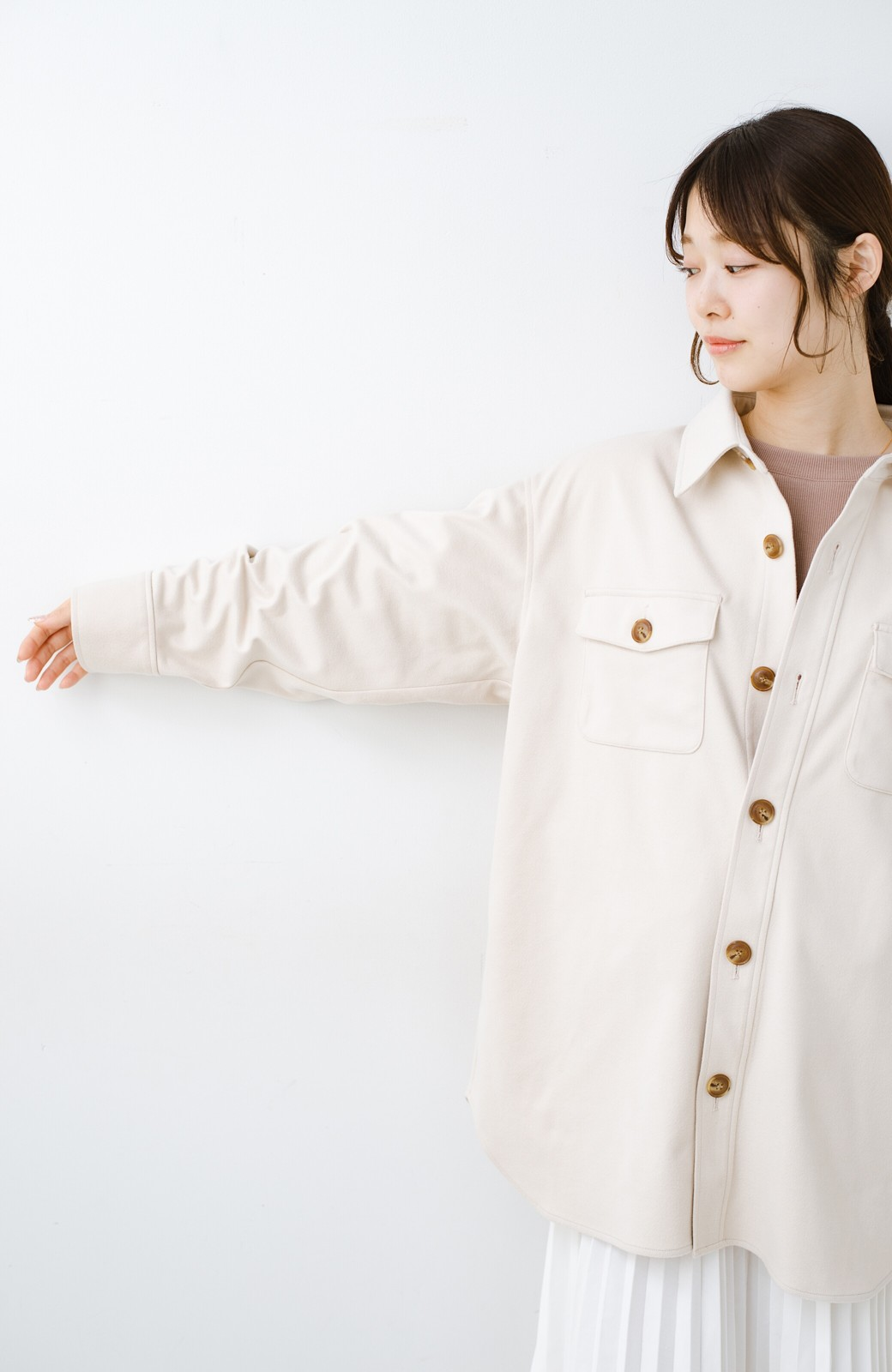haco! 気軽に羽織って今っぽオシャレに見える ゆるさがかわいいCPOジャケット <アイボリー>の商品写真19