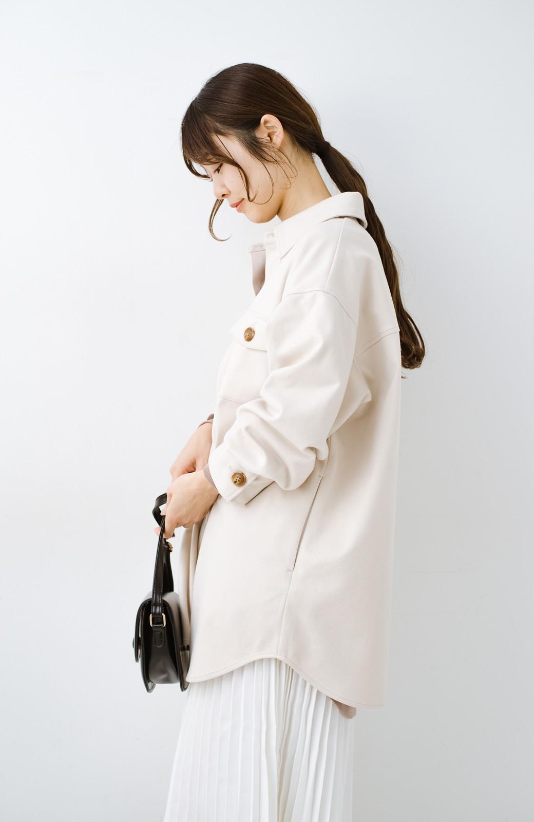 haco! 気軽に羽織って今っぽオシャレに見える ゆるさがかわいいCPOジャケット <アイボリー>の商品写真20