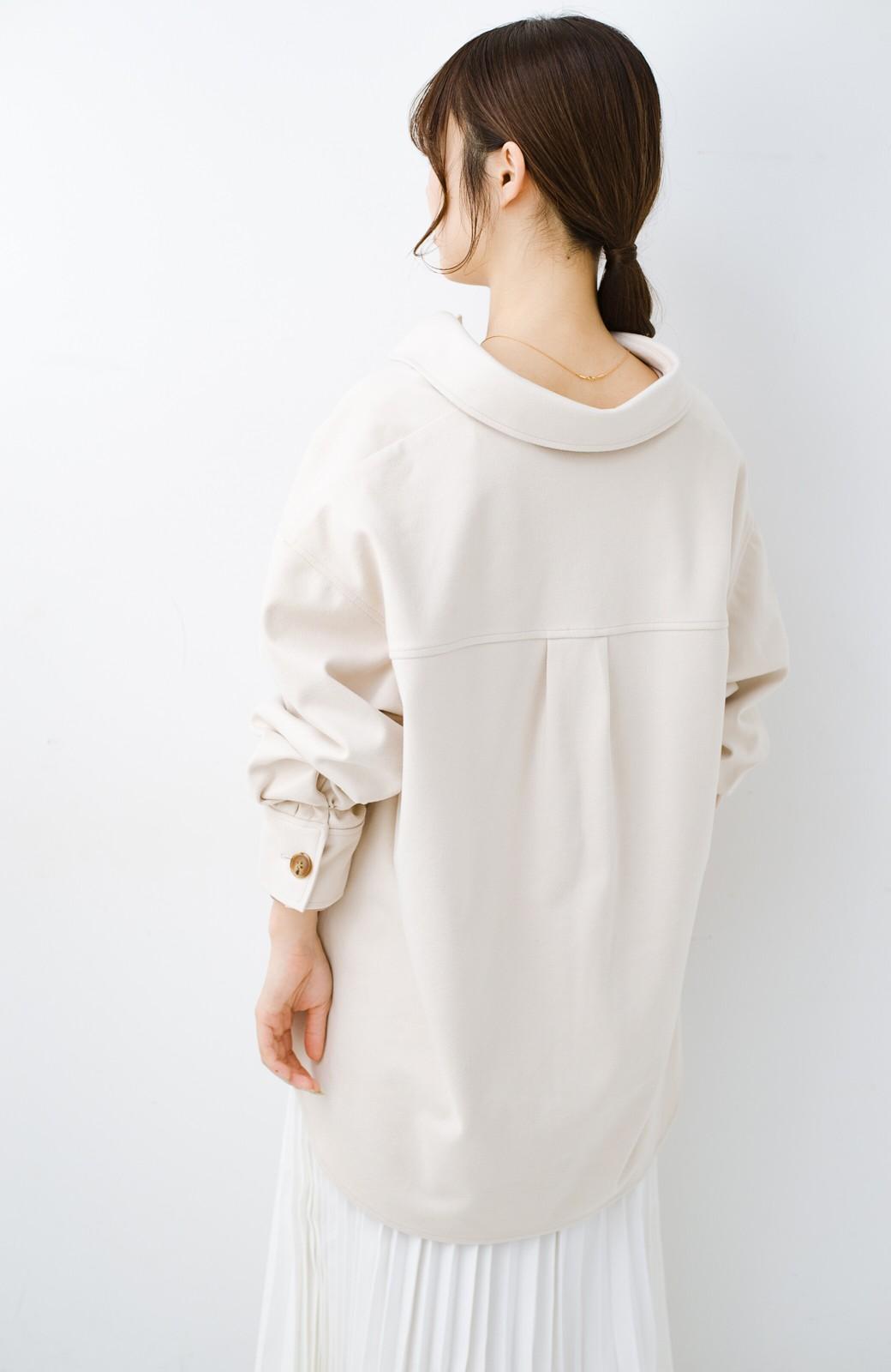 haco! 気軽に羽織って今っぽオシャレに見える ゆるさがかわいいCPOジャケット <アイボリー>の商品写真21