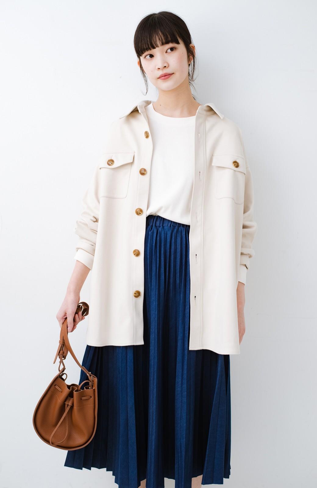 haco! 気軽に羽織って今っぽオシャレに見える ゆるさがかわいいCPOジャケット <アイボリー>の商品写真6