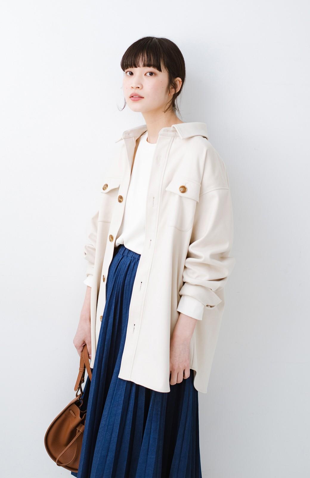 haco! 気軽に羽織って今っぽオシャレに見える ゆるさがかわいいCPOジャケット <アイボリー>の商品写真13