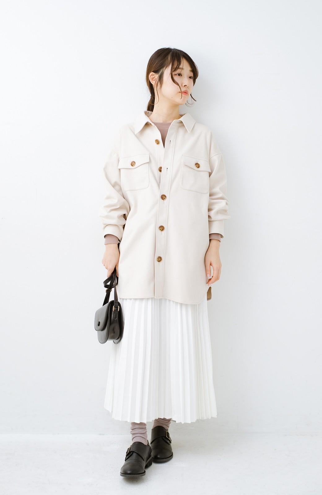 haco! 気軽に羽織って今っぽオシャレに見える ゆるさがかわいいCPOジャケット <アイボリー>の商品写真9