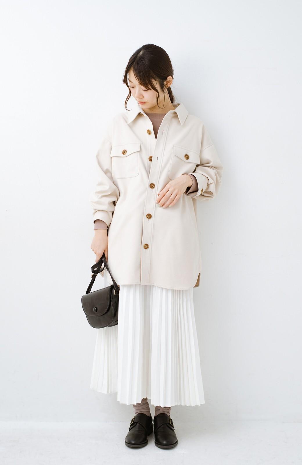 haco! 気軽に羽織って今っぽオシャレに見える ゆるさがかわいいCPOジャケット <アイボリー>の商品写真11