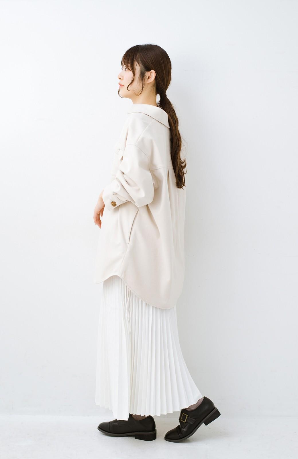 haco! 気軽に羽織って今っぽオシャレに見える ゆるさがかわいいCPOジャケット <アイボリー>の商品写真10