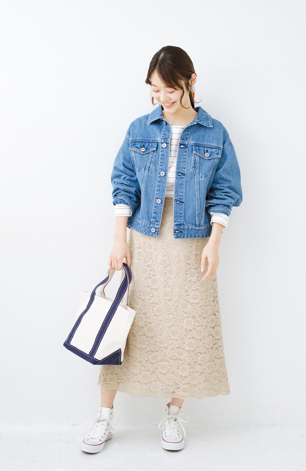 haco! シンプルトップスを合わせるだけで華やか! 魅惑の女っぽレーススカート <ライトベージュ>の商品写真12