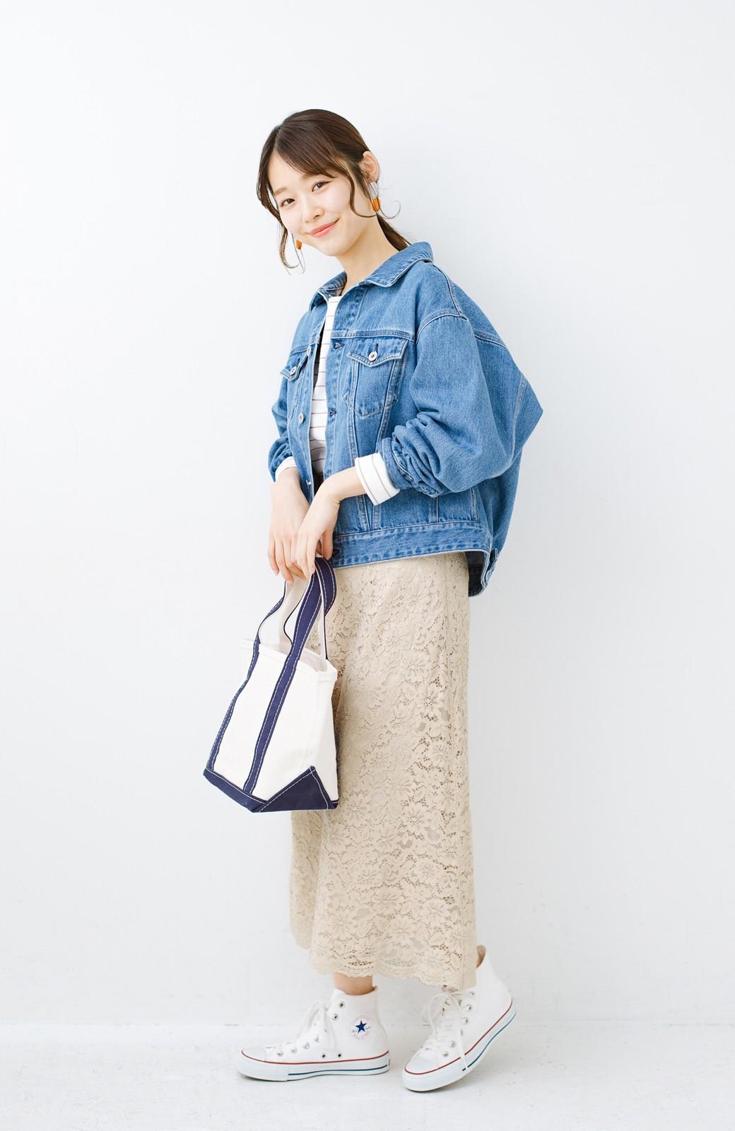haco! シンプルトップスを合わせるだけで華やか! 魅惑の女っぽレーススカート <ライトベージュ>の商品写真15
