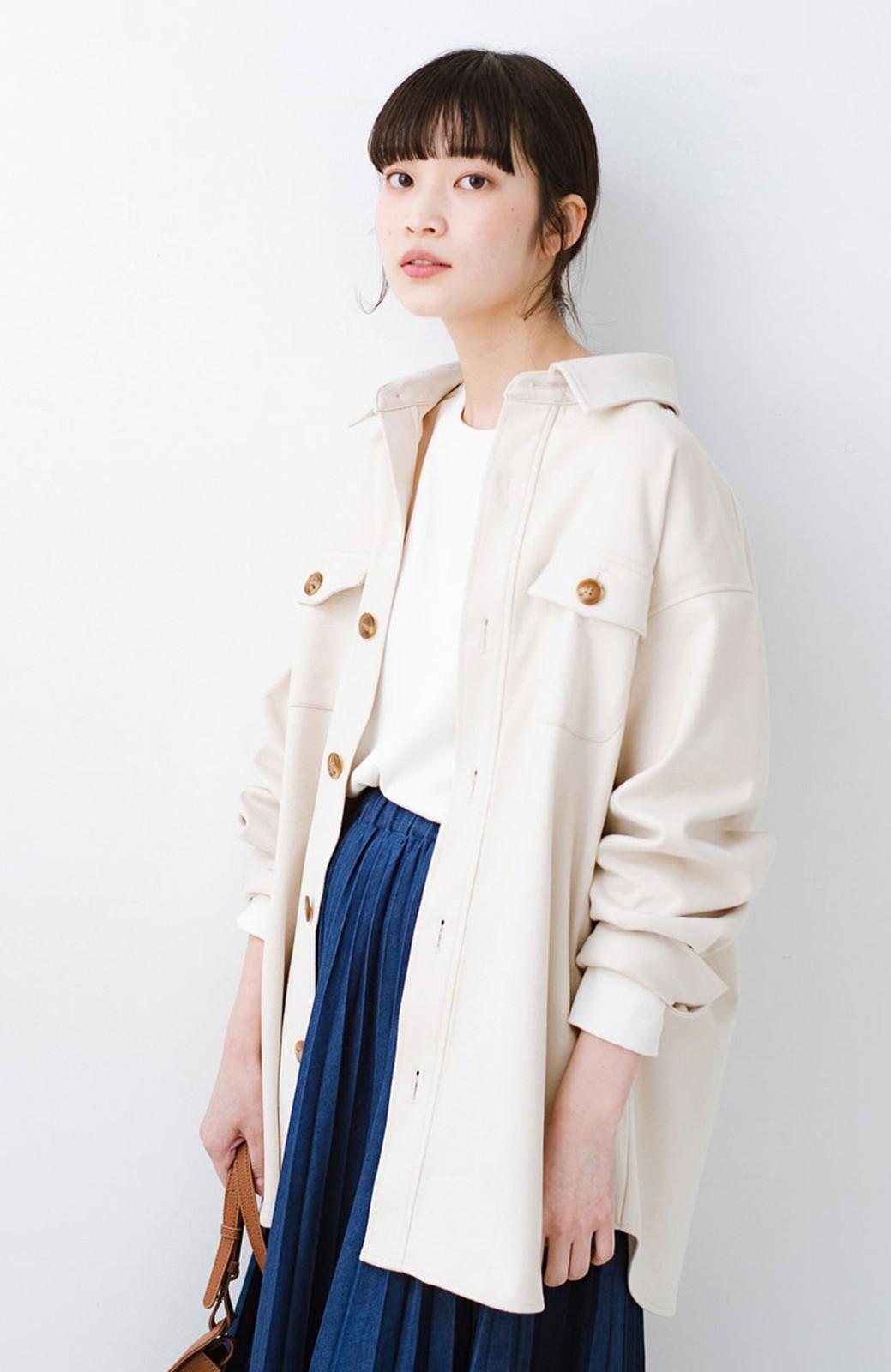 haco! 気軽に羽織って今っぽオシャレに見える ゆるさがかわいいCPOジャケット <アイボリー>の商品写真5