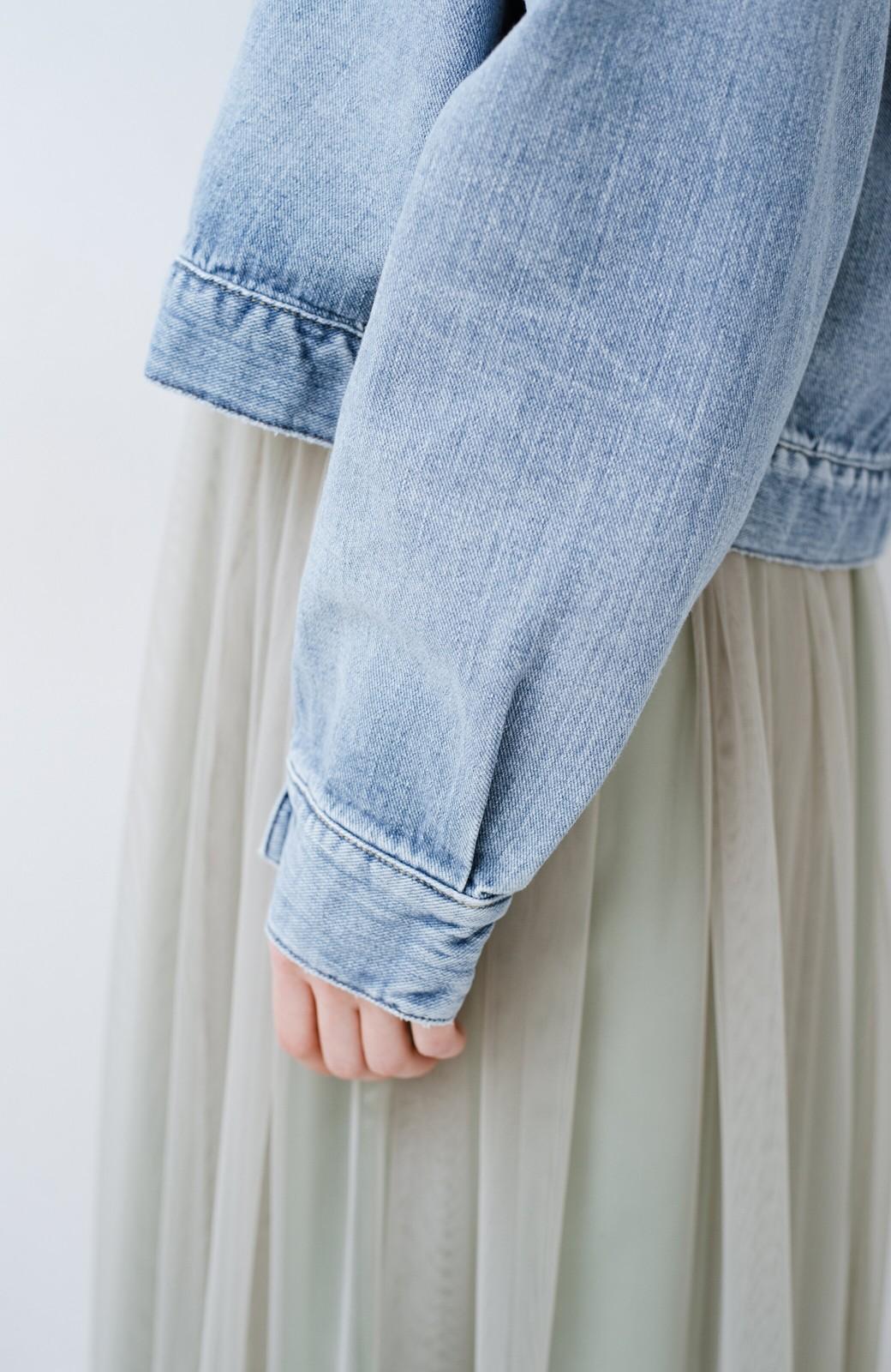 haco! Wrangler ワイドシルエットがかわいいデニムジャケット <ブルー>の商品写真7