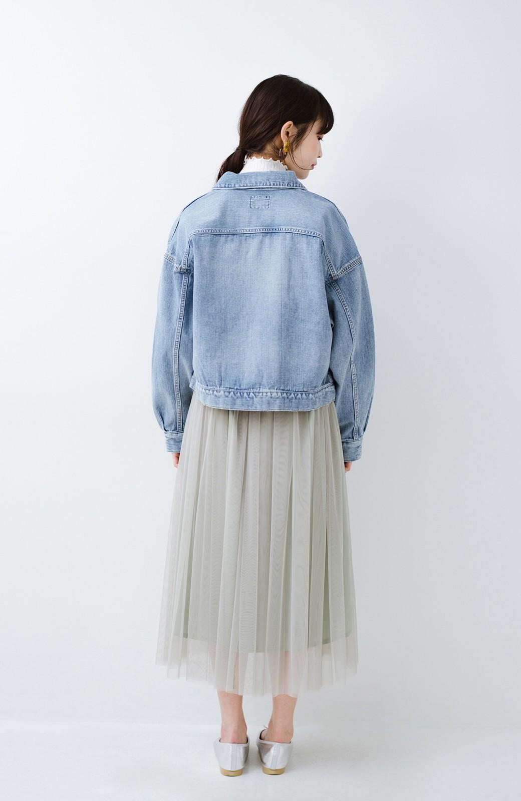 haco! Wrangler ワイドシルエットがかわいいデニムジャケット <ブルー>の商品写真12
