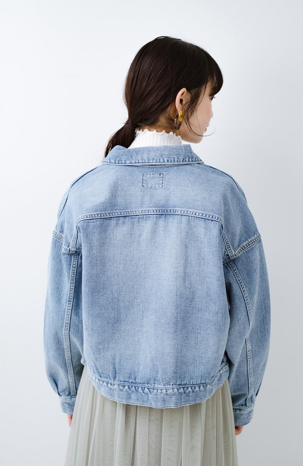 haco! Wrangler ワイドシルエットがかわいいデニムジャケット <ブルー>の商品写真13