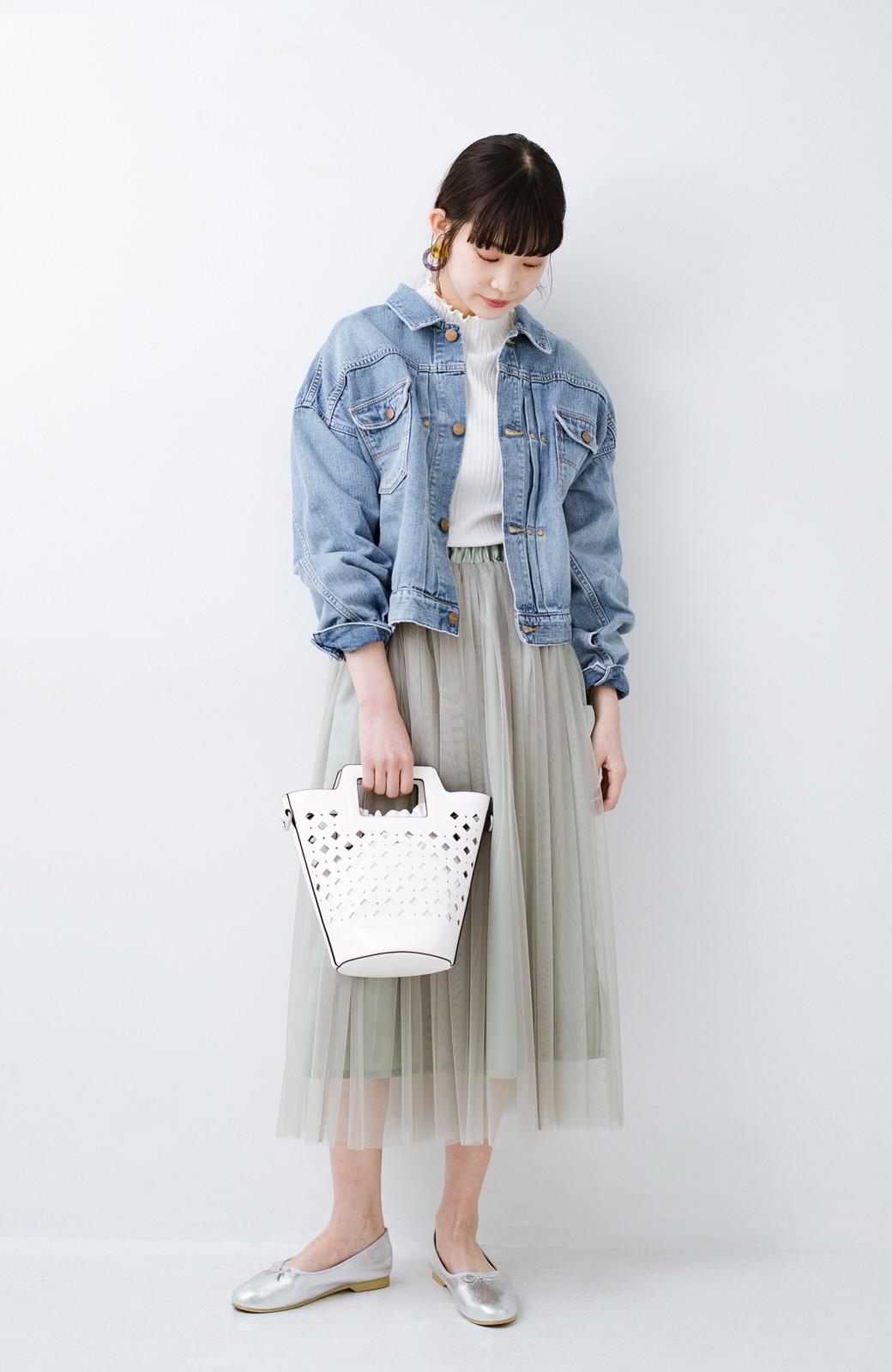 haco! Wrangler ワイドシルエットがかわいいデニムジャケット <ブルー>の商品写真8