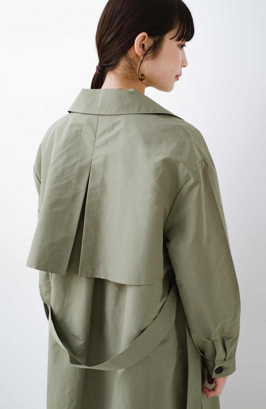 haco! いつものデニムも女っぽく仕上がる カジュアル派さんも着やすいウエストリボンコート <ライトカーキ>の商品写真7