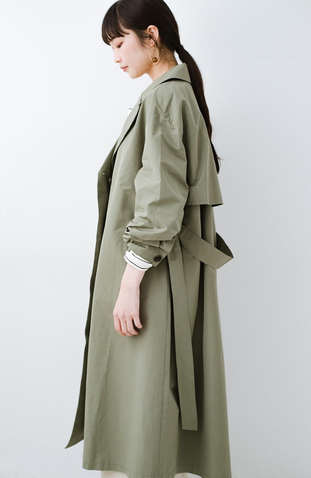 haco! いつものデニムも女っぽく仕上がる カジュアル派さんも着やすいウエストリボンコート <ライトカーキ>の商品写真26