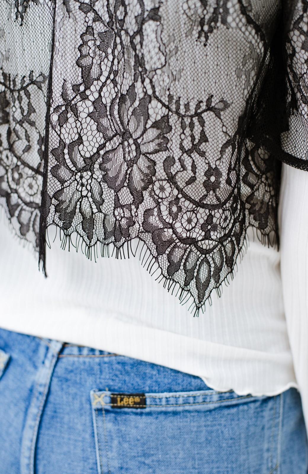 haco! 【結婚式】大人に似合うとっておき服!普段にも使えてコスパも◎な2WAYレースカーディガンとワンピースセット <ブラック>の商品写真27