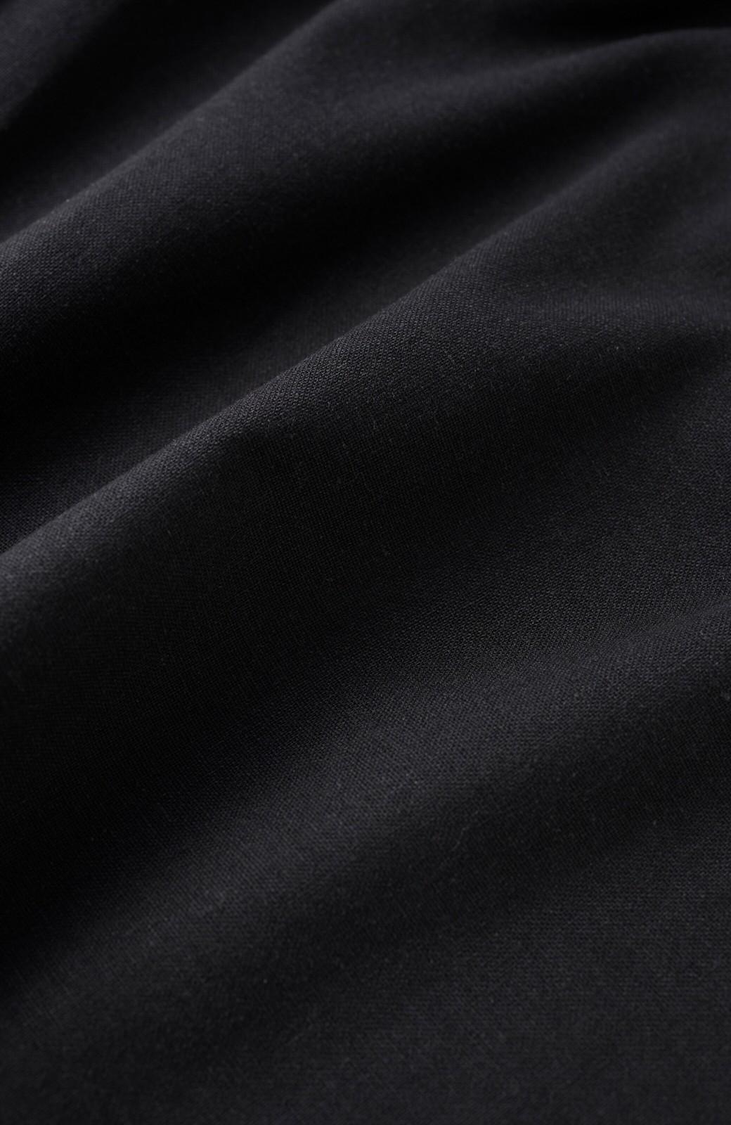 haco! カジュアル派の大人にぴったりな 麻混素材のシックなサロペットパンツ by que made me <ブラック>の商品写真15
