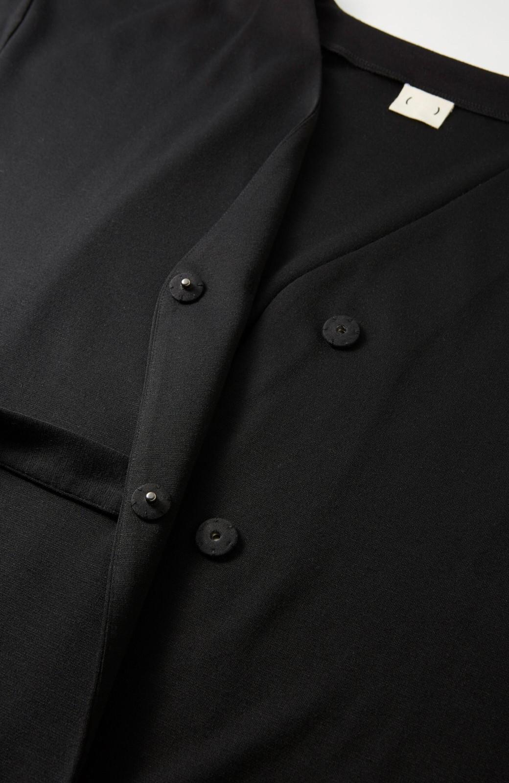 haco! サイドリボンと落ち感が女っぽい 羽織り&重ね着を楽しむカットソーワンピース <ブラック>の商品写真5