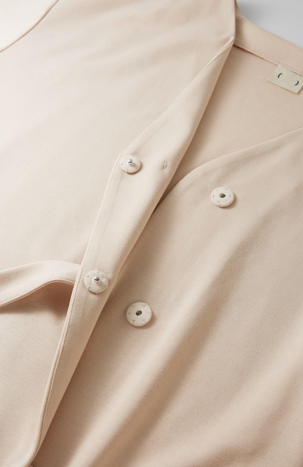haco! サイドリボンと落ち感が女っぽい 羽織り&重ね着を楽しむカットソーワンピース <ピンクベージュ>の商品写真5