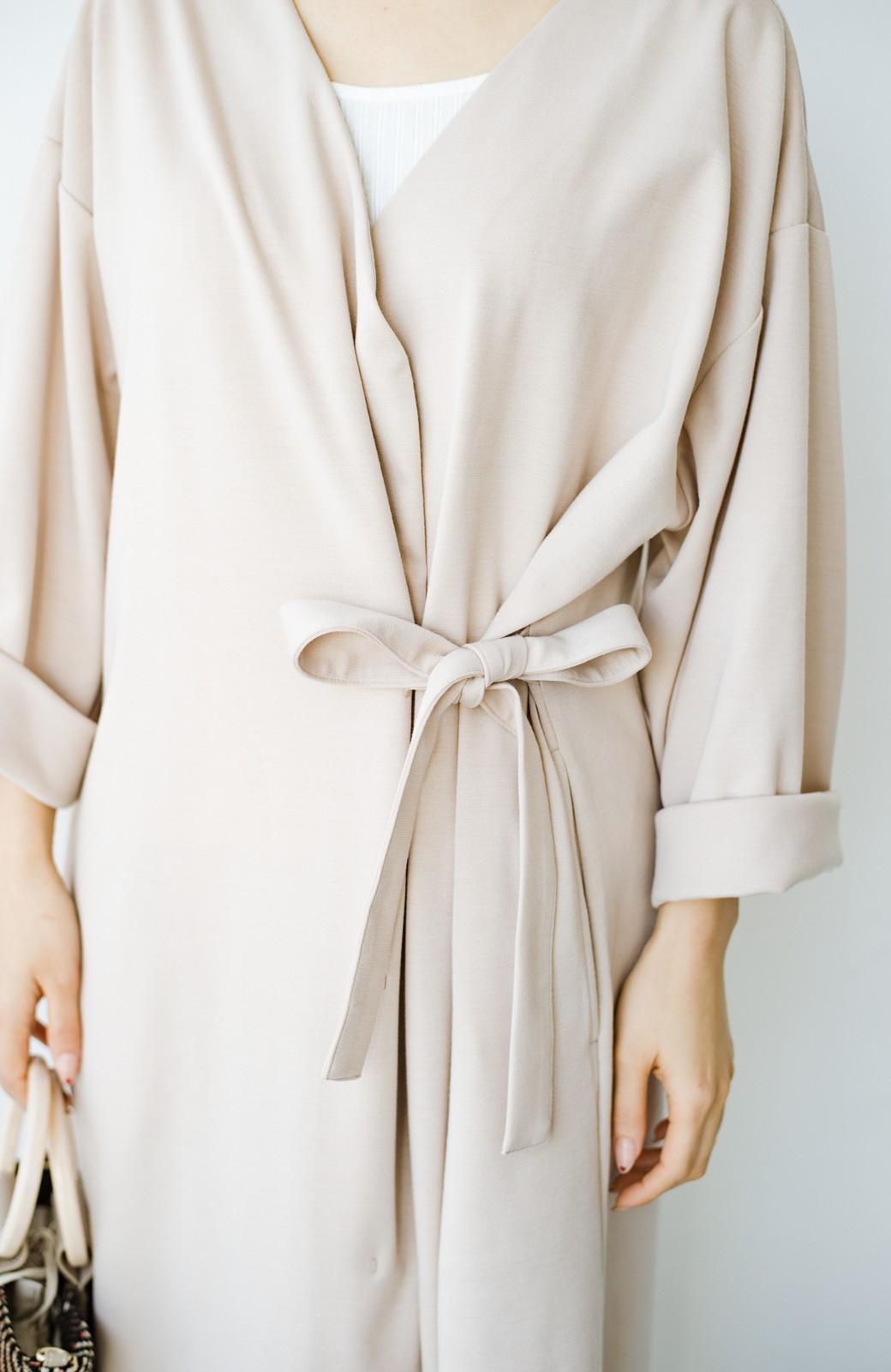 haco! サイドリボンと落ち感が女っぽい 羽織り&重ね着を楽しむカットソーワンピース <ピンクベージュ>の商品写真7