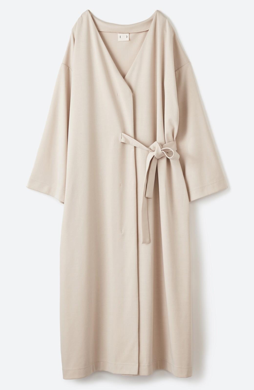 haco! サイドリボンと落ち感が女っぽい 羽織り&重ね着を楽しむカットソーワンピース <ピンクベージュ>の商品写真14
