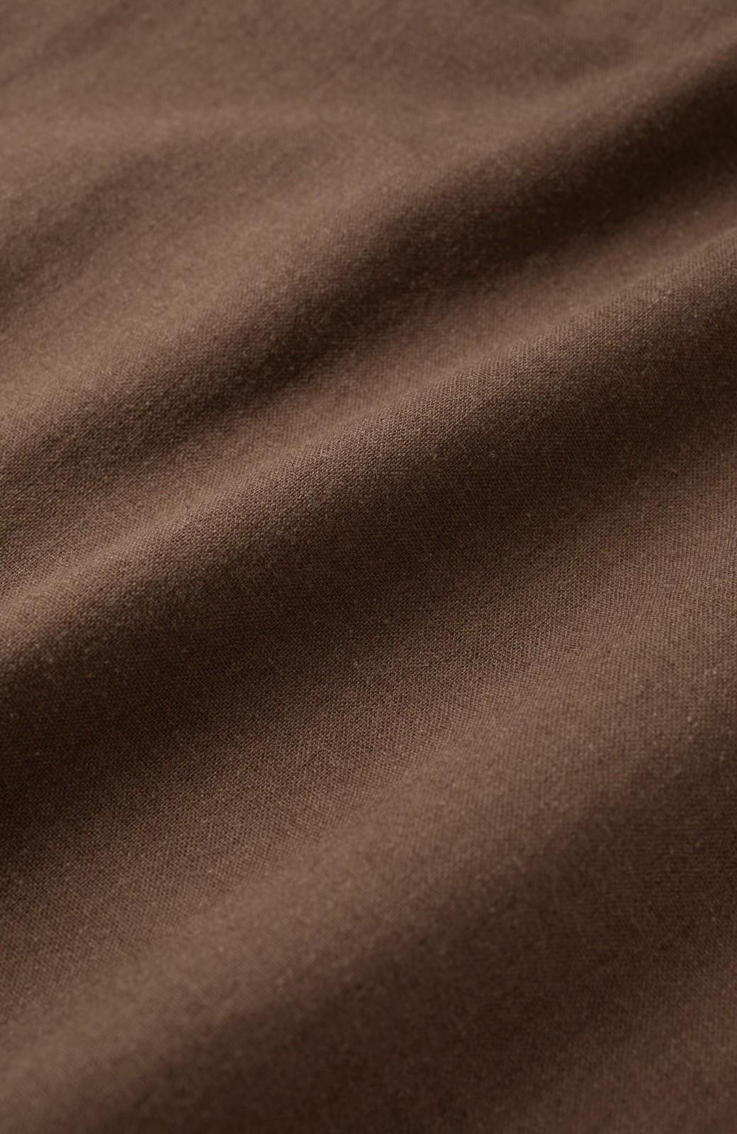 haco! カジュアル派の大人にぴったりな 麻混素材のシックなサロペットパンツ by que made me <ブラウン>の商品写真5