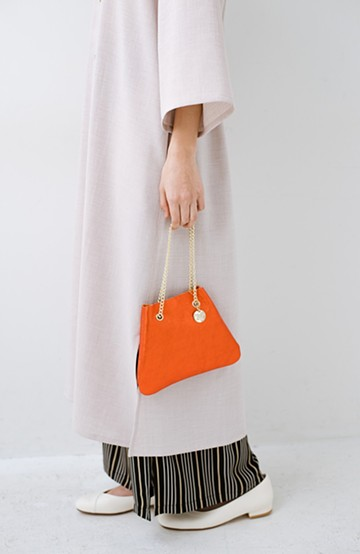 haco! LAURA DI MAGGIO チェーンハンドルのミニバッグ <オレンジ>の商品写真