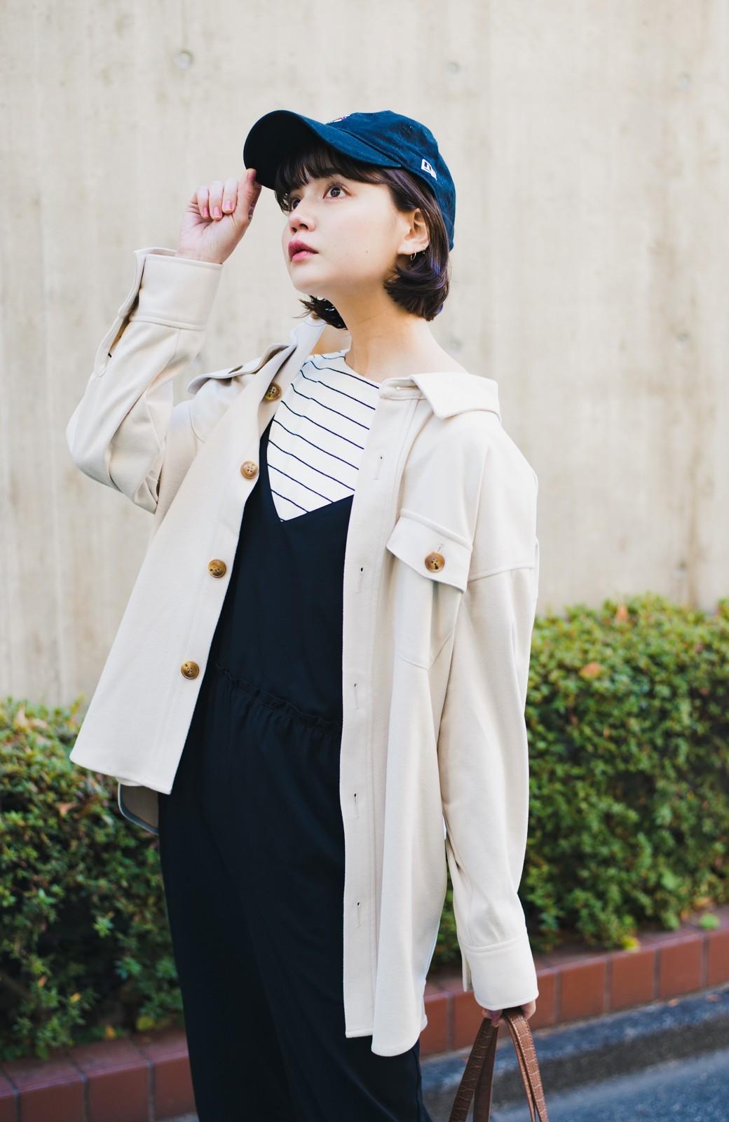 haco! 気軽に羽織って今っぽオシャレに見える ゆるさがかわいいCPOジャケット <アイボリー>の商品写真1