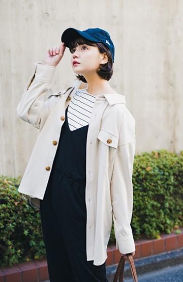 haco! 気軽に羽織って今っぽオシャレに見える ゆるさがかわいいCPOジャケット <アイボリー>の商品写真