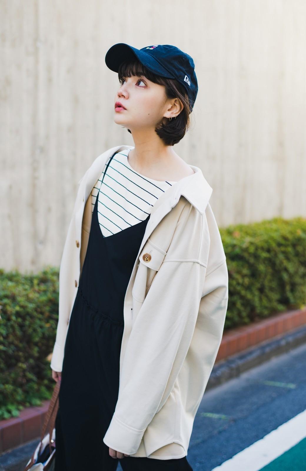 haco! 気軽に羽織って今っぽオシャレに見える ゆるさがかわいいCPOジャケット <アイボリー>の商品写真4
