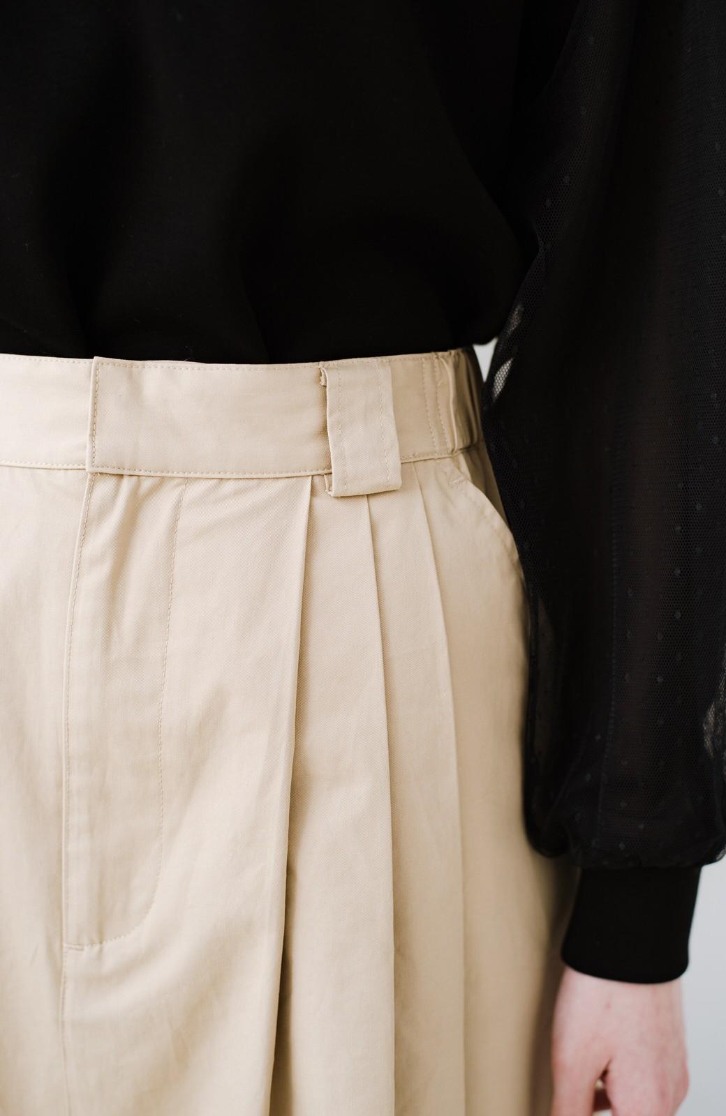 haco! 着まわしも着やせも大満足! オールシーズン使えるチノロングスカート <ベージュ>の商品写真11