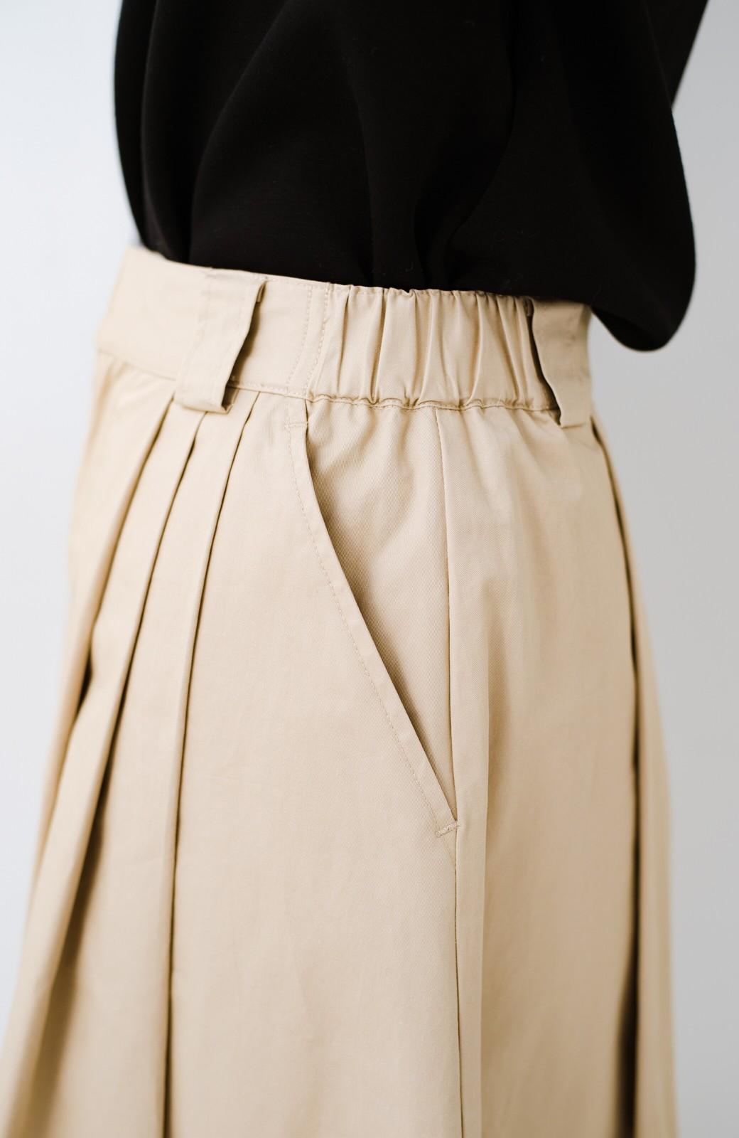 haco! 着まわしも着やせも大満足! オールシーズン使えるチノロングスカート <ベージュ>の商品写真12