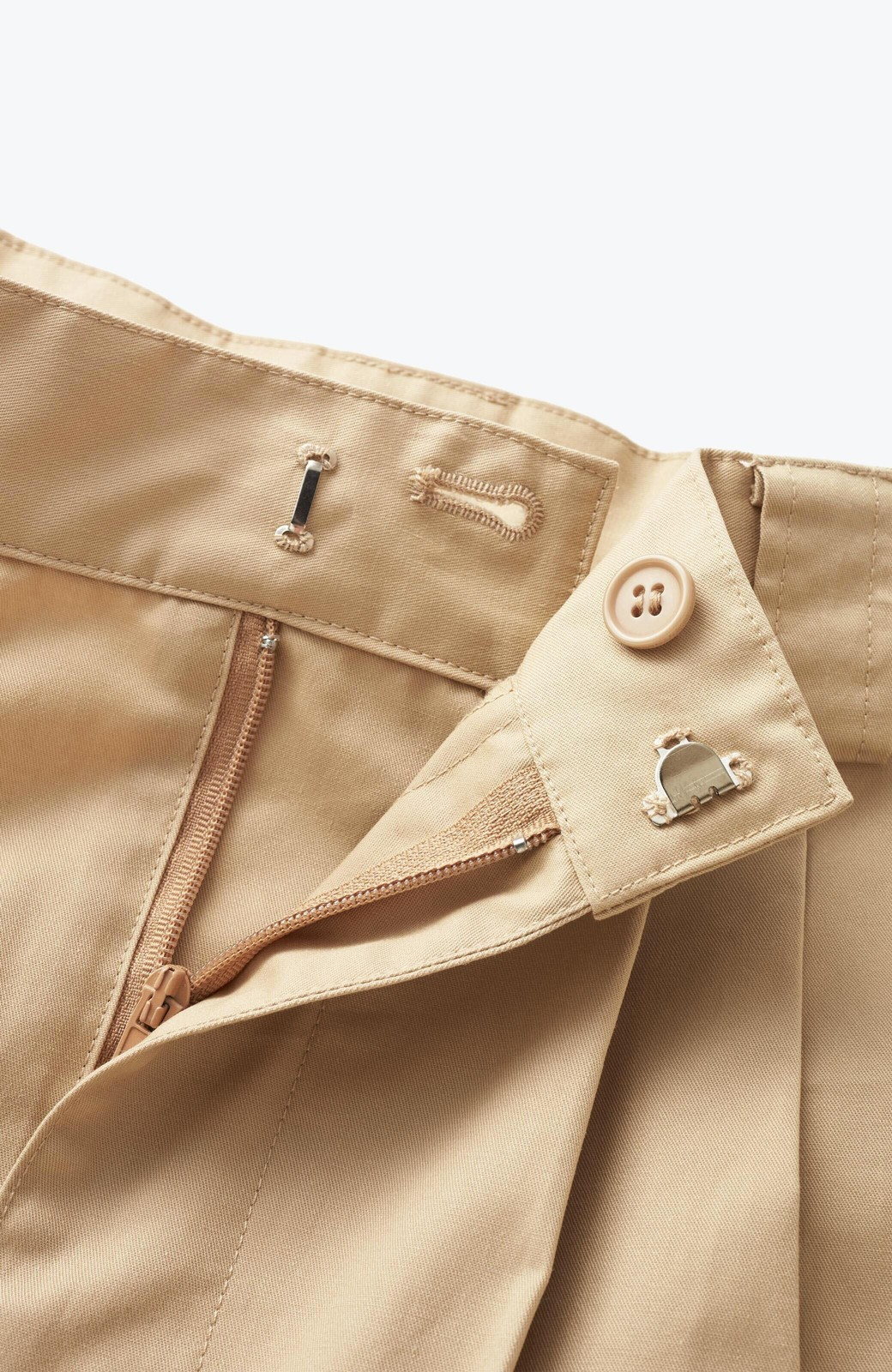 haco! 着まわしも着やせも大満足! オールシーズン使えるチノロングスカート <ベージュ>の商品写真3